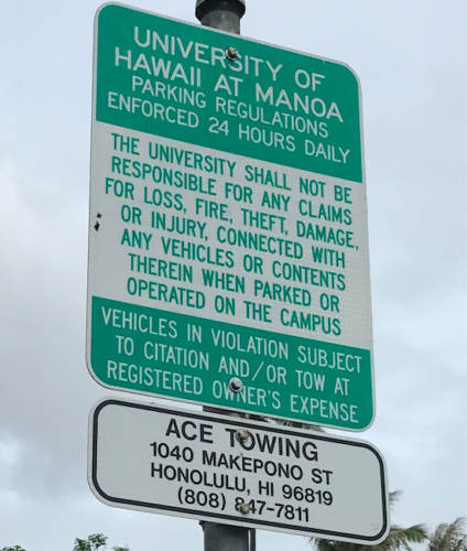 parking registration manoa